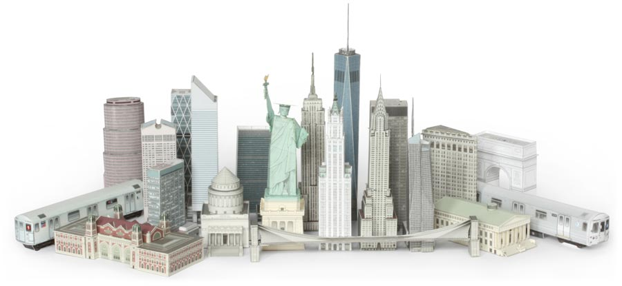 Build Your Own New York Postcard Models